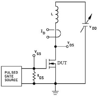 Unclamped Inductive Switching Schematic